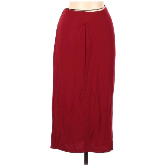 Karen Millen Red Chain Maxi Skirt